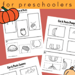 Fall cut and paste worksheets
