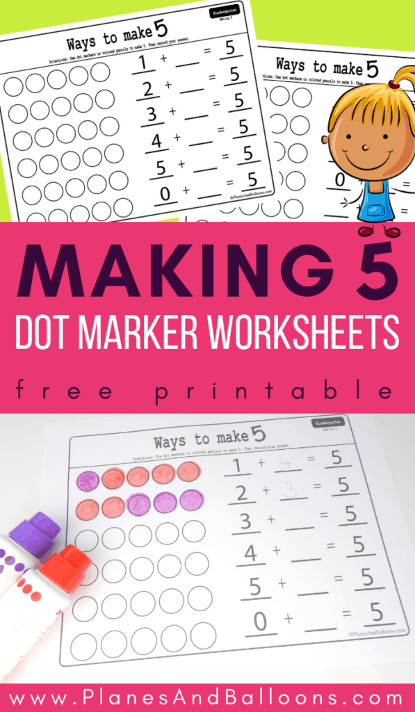 making 5 math worksheets