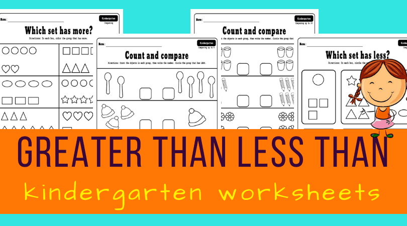 Greater than less than kindergarten worksheets - Planes ...