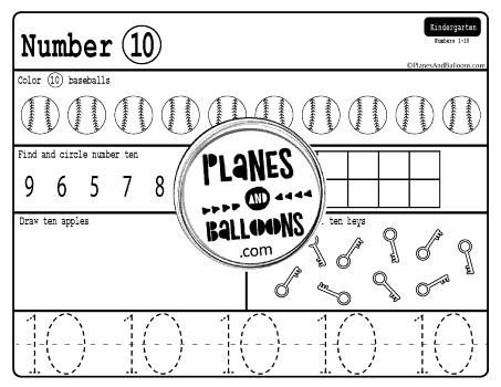 number worksheets 1-10