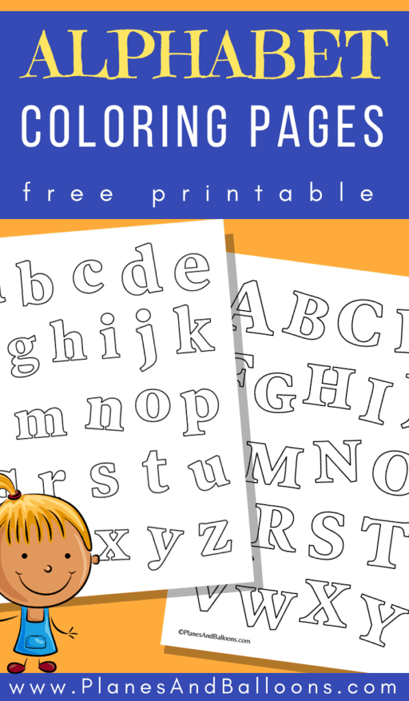 alphabet coloring worksheets for kindergarten