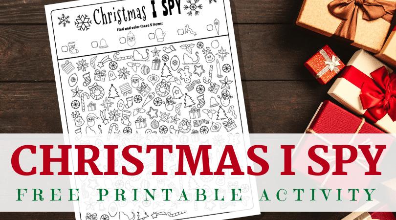 Christmas I spy free printable
