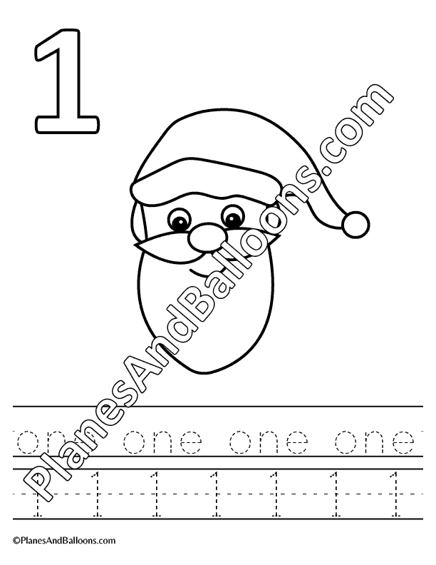 Christmas counting worksheets for preschool