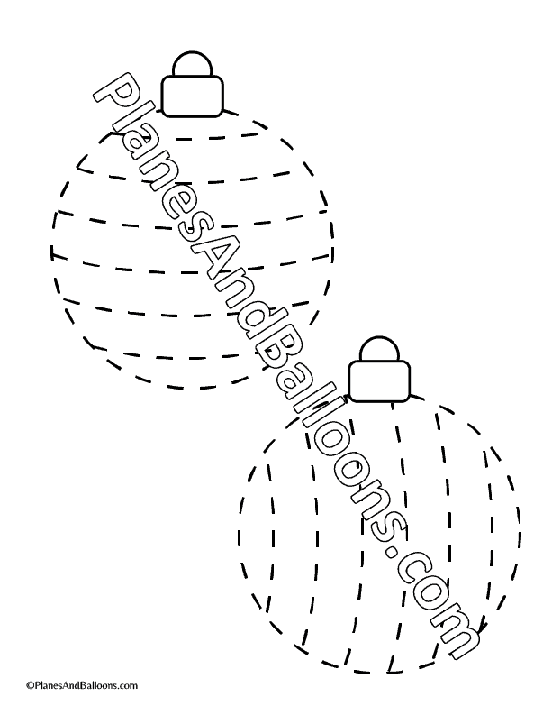 Christmas tracing worksheets for preschoolers