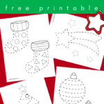 Christmas tracing worksheets for preschool and toddlers