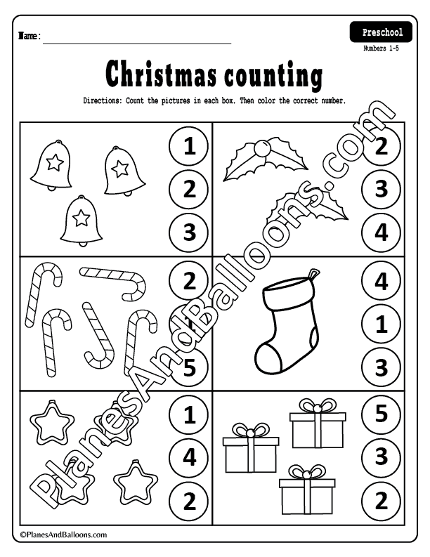Counting to 10 worksheets preschool