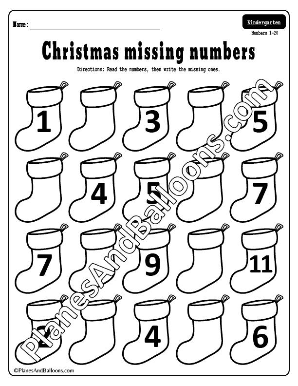 Missing numbers 1-20 worksheets