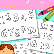 Numbers 1-20 coloring pages