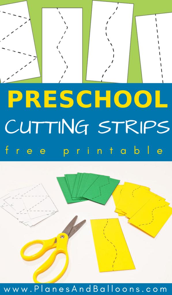 cutting skills preschool worksheets