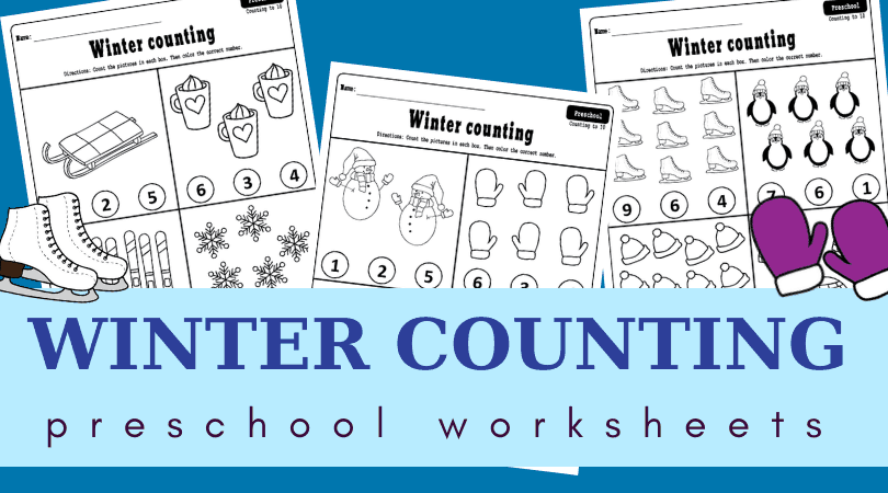 Winter counting worksheets preschool pdf