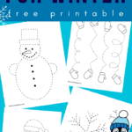 winter tracing worksheets toddlers and preschoolers