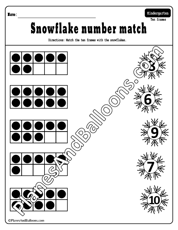 winter worksheets for kindergarten math