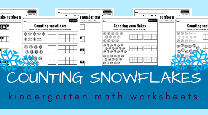 January worksheets for kindergarten math