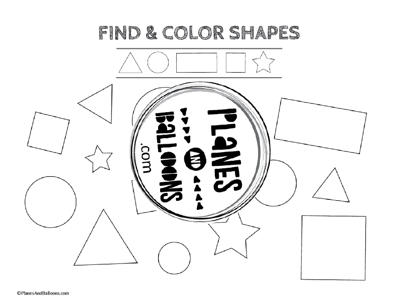 tracing shapes worksheets preschool
