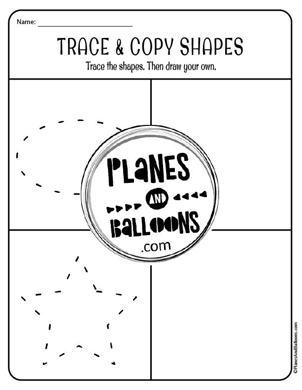 shape tracing worksheets preschool