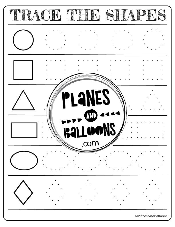 preschool tracing shapes worksheets