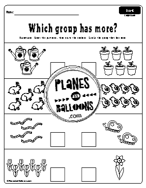 spring worksheets for preschoolers
