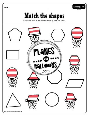 Dr. Seuss matching shapes