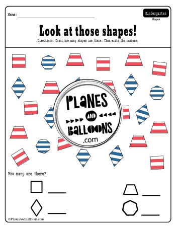 Dr. Seuss shapes worksheets