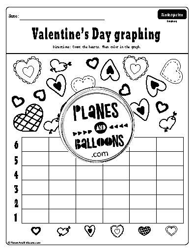 Valentine's day count and graph worksheet