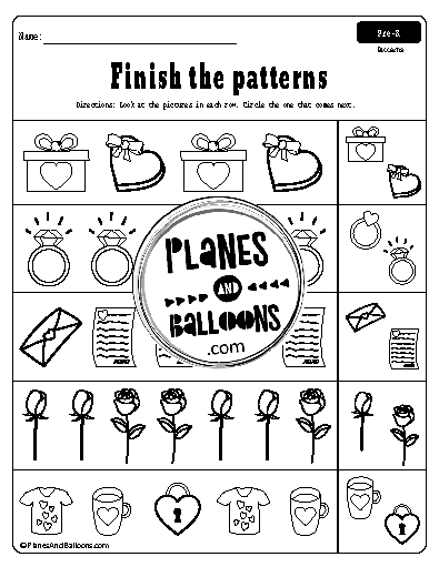 free printable pattern worksheets