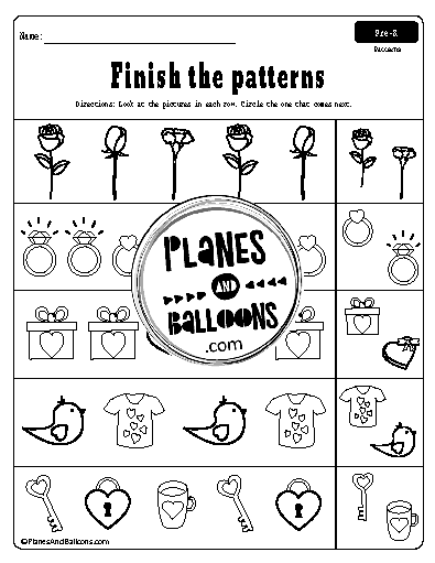 picture pattern worksheets