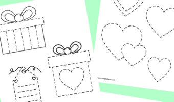 Valentine's day tracing for preschoolers