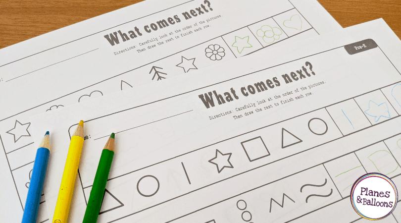 extending patterns worksheets