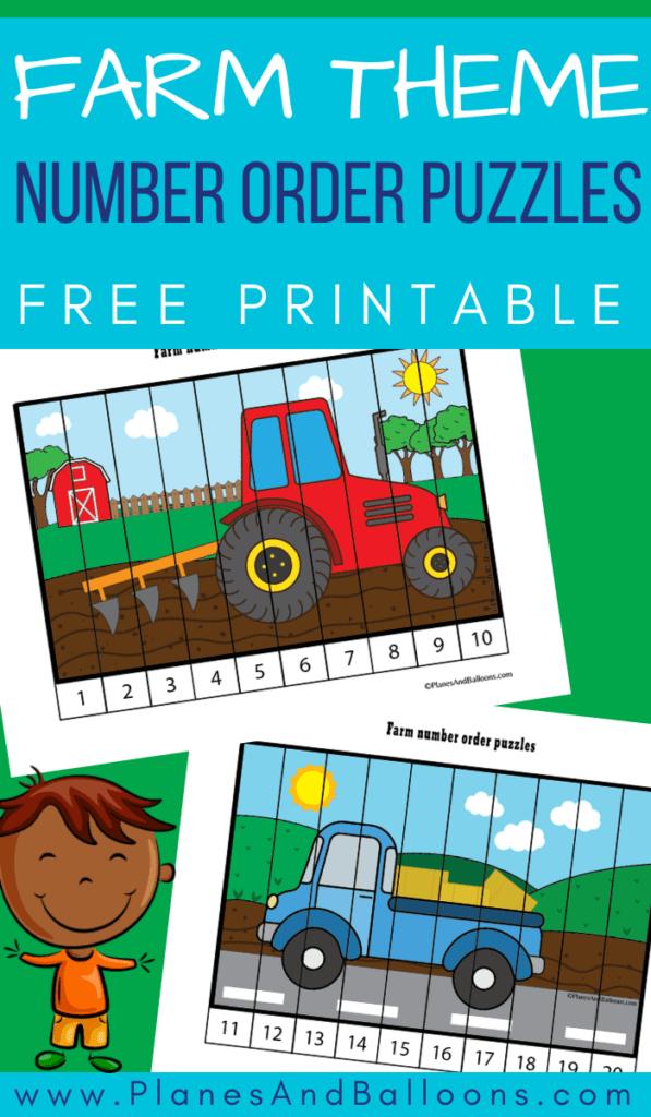farm theme preschool puzzles