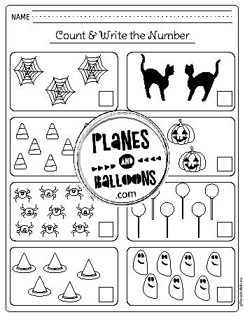 Halloween worksheets for kindergarten