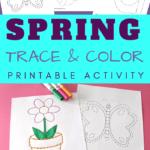 spring tracing worksheets preschool