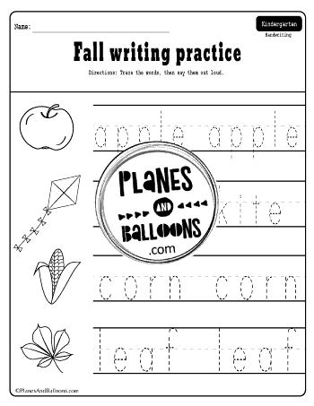 Fall kindergarten pdf