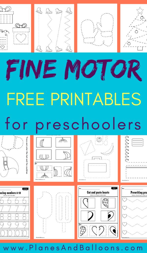 fine motor skills worksheets