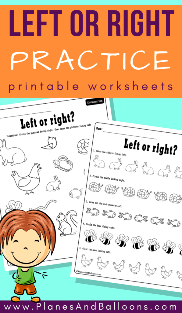 left and right position worksheets