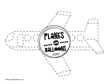 airplane tracing worksheet