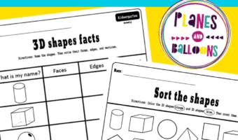 3d shapes worksheets kindergarten