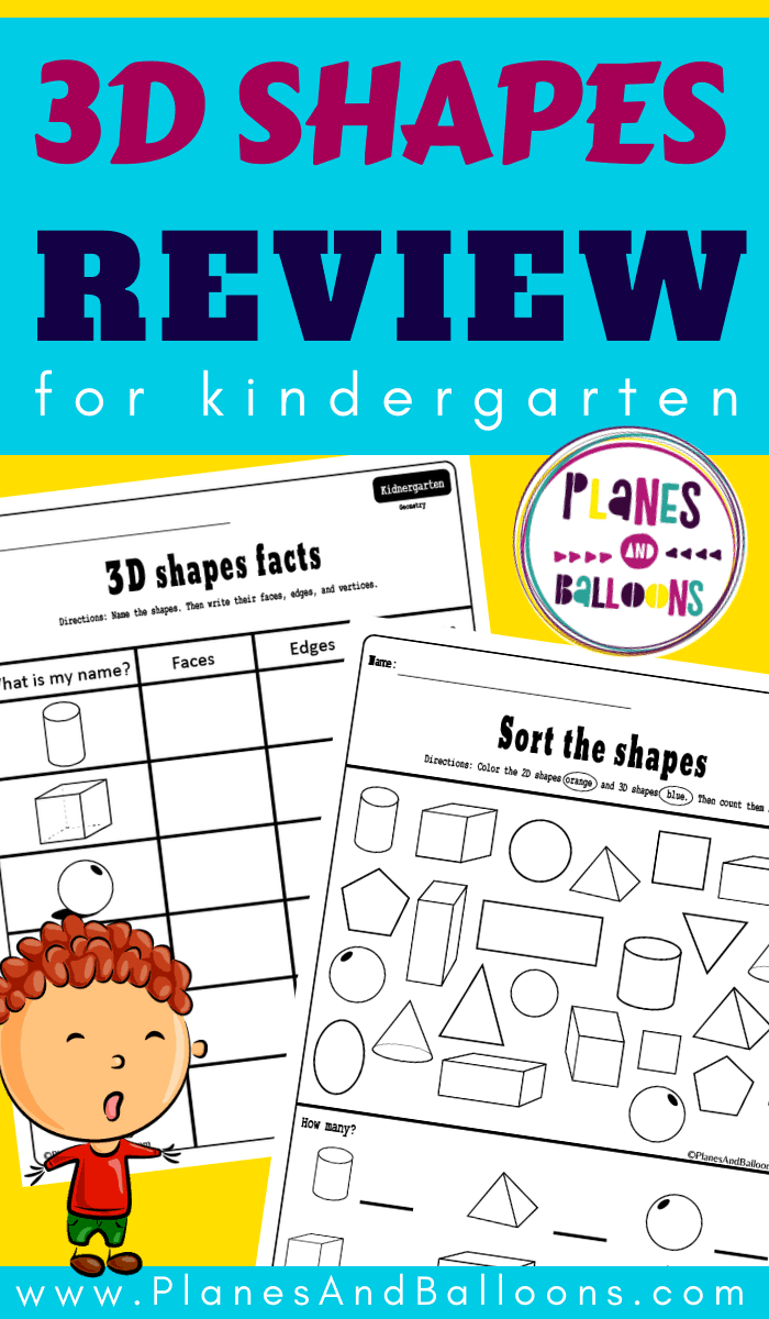 - Free Printable 3d Shapes Worksheets For Kindergarten