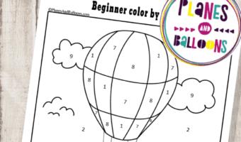 beginner color by number printable