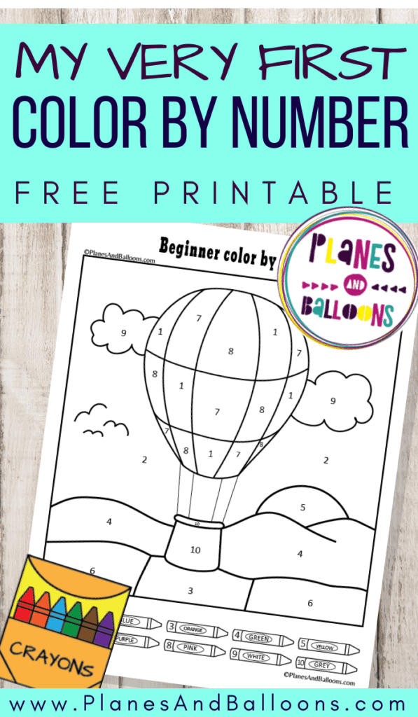 beginner color by number printable