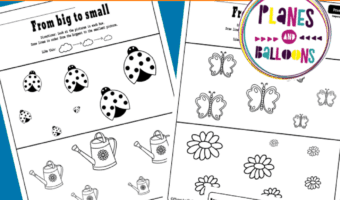 comparing size worksheets preschool