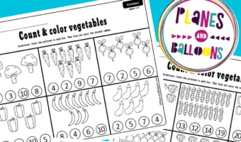 Kindergarten counting worksheets 1-20