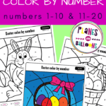 Easter color by number pdf
