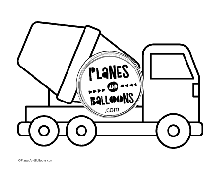 Large trucks coloring pages