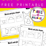 Cut and paste shapes worksheets