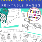 Ocean animals counting pages preschool
