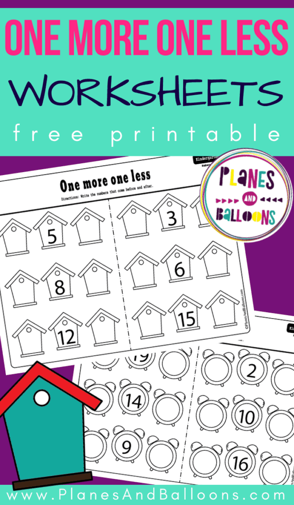 One more one less worksheets pdf