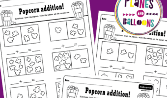 addition to 10 kindergarten worksheets