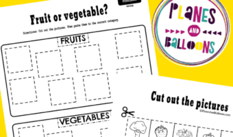 Sorting worksheets preschool pdf
