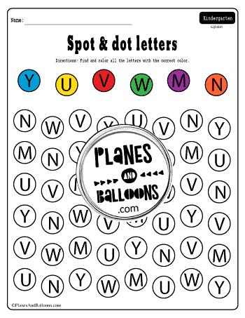 Spot and dot letter worksheets