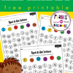 spot and dot letter worksheets